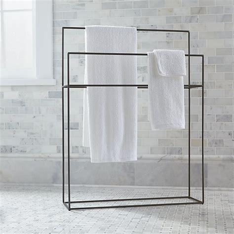 Jackson Gunmetal Standing Towel Rack + Reviews   Crate and