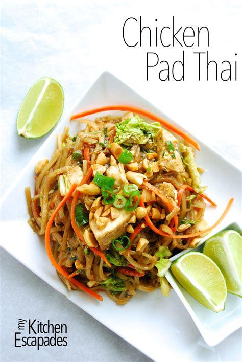 chicken pad thai recipe food recipes asian recipes