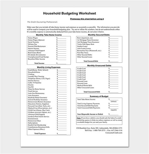 budget summary template    excel