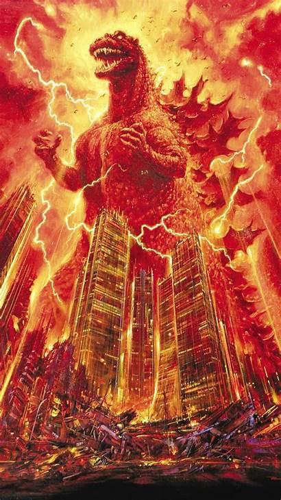 Godzilla Phone 1985 Wallpapers Burning Iphone Shin
