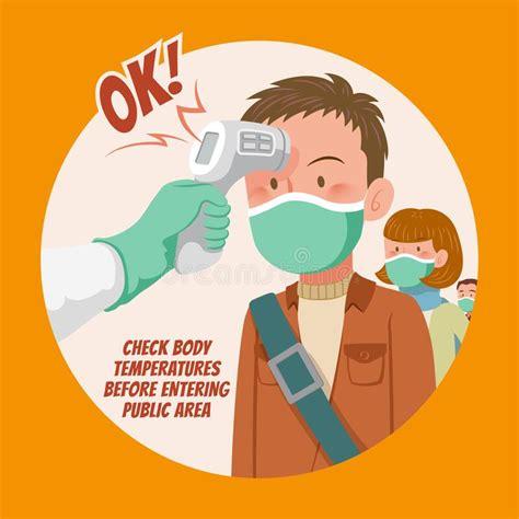 Check body temperature stock vector. Illustration of ...