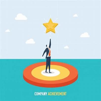Achievement Background Company Achievements Freepik Vector Graphic