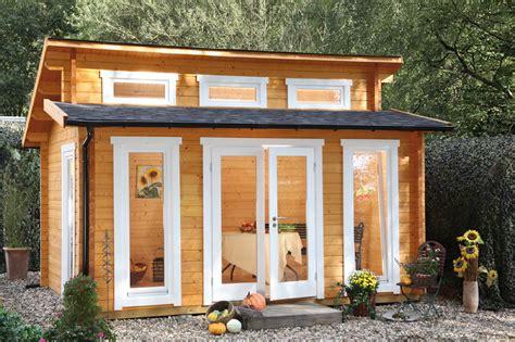 Gartenhaus «480x390cm Holzhaus Bausatz 58mm