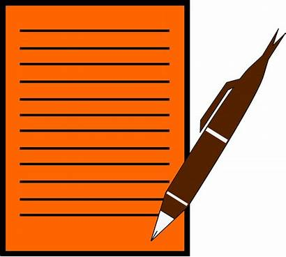 Writing Paper Pen Clipart Cartoon Clipground