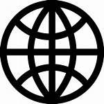 Globe Icon Outline Dark Grid Icons Web