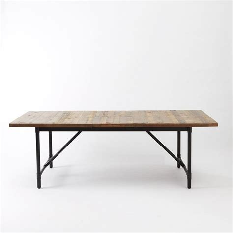 rustic industrial dining table emmerson industrial expandable dining table rustic