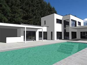 toit plat vegetalise pour cette belle maison contemporaine With photo maison toit plat 10 de maison de ville avec piscine toit plat construction