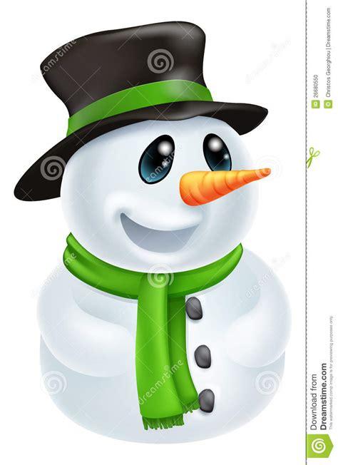 cartoon christmas snowman stock photo image