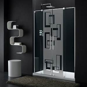 sticker porte de douche lart abstrait stickers art et With stickers porte douche design