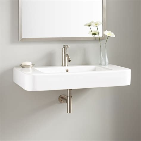 faucet for sink in bathroom 34 quot burleson porcelain wall mount sink wall mount sinks