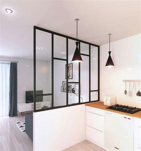 cloison cuisine idée relooking cuisine cloison vitrée pour créer un