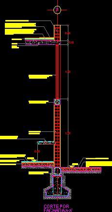 corte por fachada en autocad descargar cad  kb