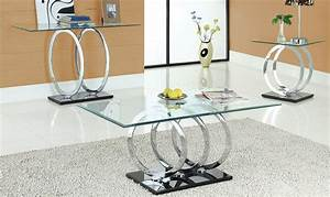 Modern glass coffee table sets for Contemporary glass coffee table sets