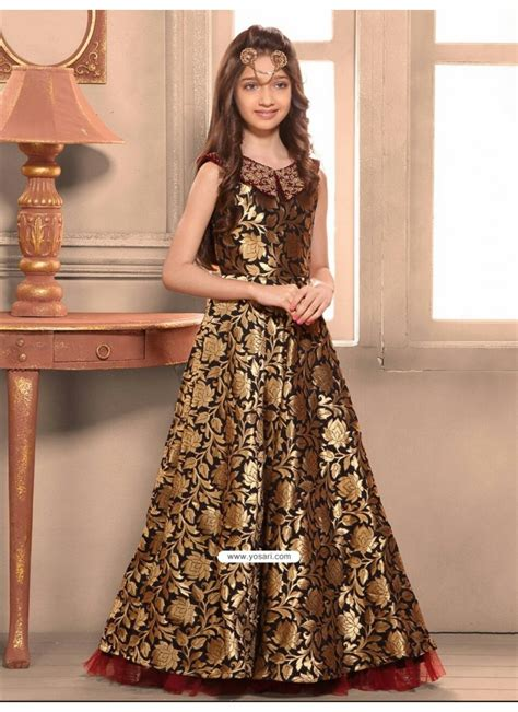 buy blooming taffeta jacquard indo western dress