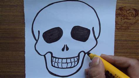 draw  cartoon skull youtube