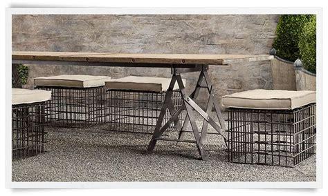 Industrial Patio Furniture  Garden  Pinterest Rustic