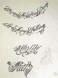 Gangster Script Tattoo Fonts | www.pixshark.com - Images ...