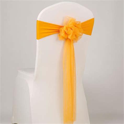 201 lastique ruban nœud de chaise avec fleur satin d 233 corer couverture de chaise pour mariage f 234 te