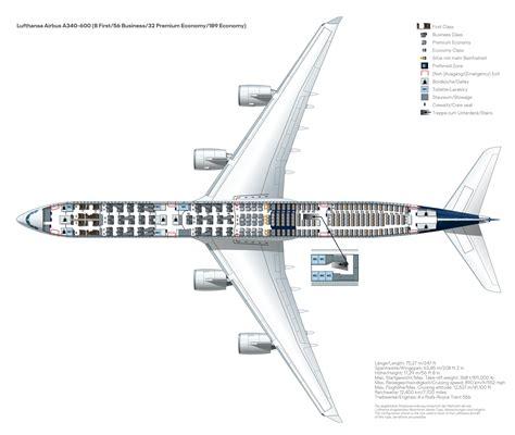Sitzplan A340 600 Lufthansa magazin