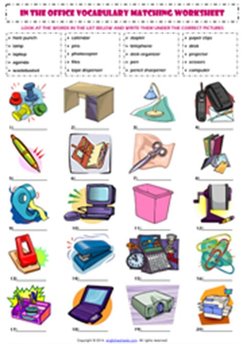 and equipment vocabulary with pictures lesson in the office esl printable worksheets and exercises Office