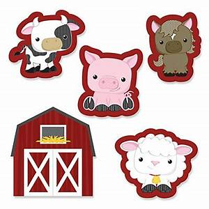 Farm Animals - Shaped Party Paper Cut-Outs