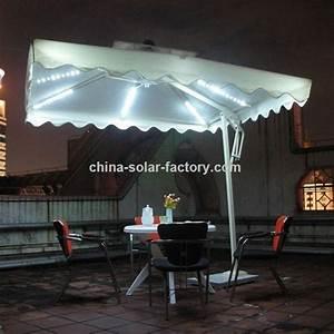 Regenschirm Mit Licht : werbeartikel solar regenschirm mit led leuchten ~ Kayakingforconservation.com Haus und Dekorationen