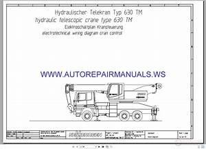 Sennebogen 630tm Crane Electrotechnical Wiring Diagrams