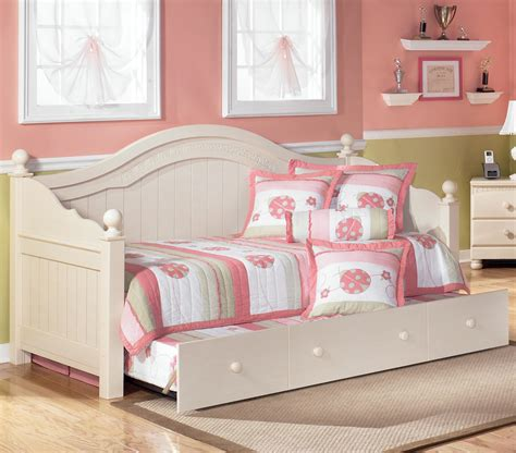 trundle day bed signature design by cottage retreat day bed with
