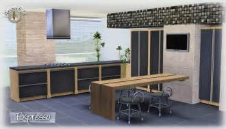 my sims 3 expresso kitchen set by simcredible designs