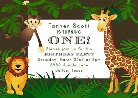 kids party jungle safari theme images