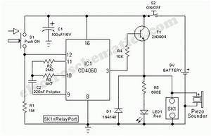 Door Timer Circuit With Alarm