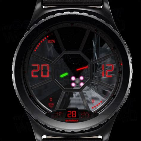 mygalaxywatch watchface overview tie fighter trench