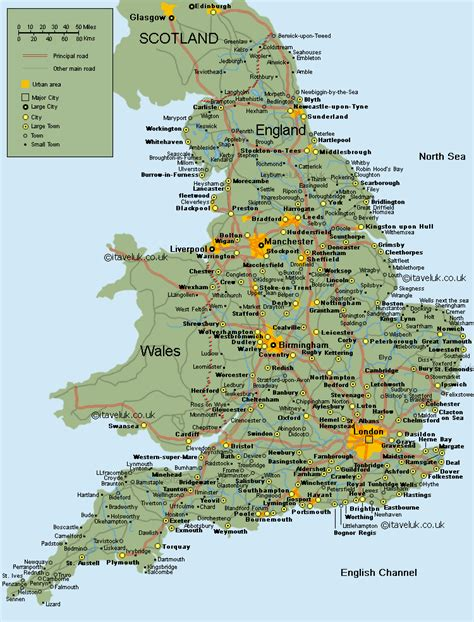 map  uk towns  travel information   map