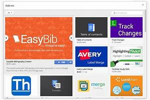 Google launches a web app add on store for google docs for Google docs add ons store