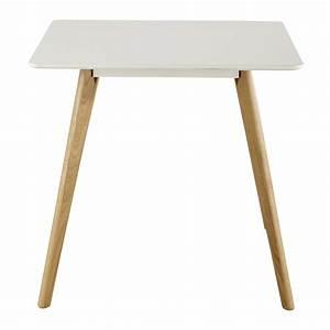 Table Carrée Blanche : table manger carr e blanche 4 personnes l80 june maisons du monde ~ Teatrodelosmanantiales.com Idées de Décoration