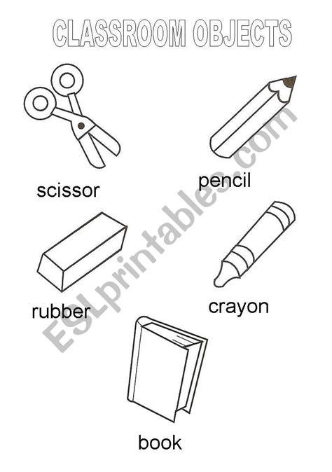classroom objects vocabulary esl worksheet  marykate