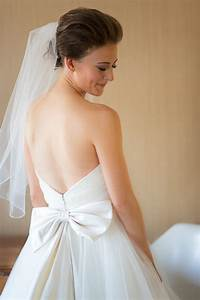 v back wedding gown with bow elizabeth anne designs the With bow wedding dress