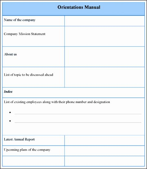 Training Guide Template Free by Microsoft Word Training Manual 28 Images Training