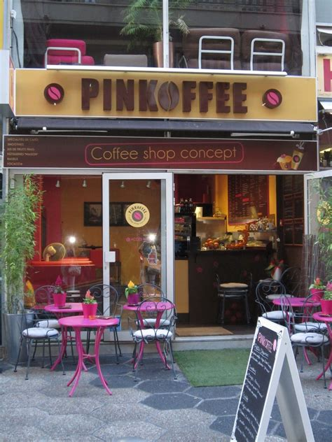Copyright © cozy corner restaurant. pink coffee shop, must figure out where this is....and go there!   Coffee shop, Cafe design ...