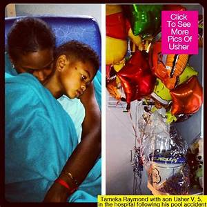Usher's Son: First Photo After Pool Accident — Tameka Hugs ...