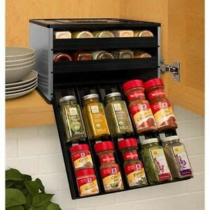 Silver Spice Rack by Pantry Cabinet Drawer Storage Jar Holder Silver Spice