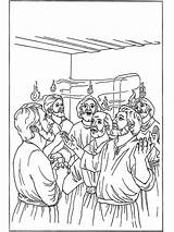 Pentecost Coloring Pfingsten Pinksteren Pentecostes Bible Pentecoste Printable Bibel Malvorlagen Kleurplaten Colorare Ausmalbilder Pentakosta Peter Cornelius Jetztmalen Colorir Desenhos Roh sketch template