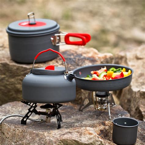cooking cookware pan outdoor pot camping gourmet backpacking portable picnic utensil persons bowl alexnld