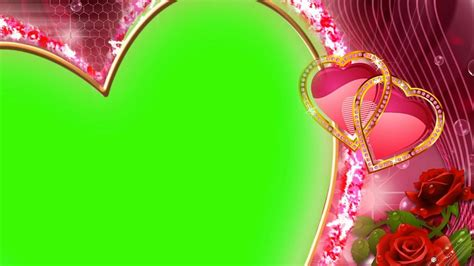 heart frame wedding footage background green screen effect