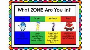 Feelings Chart For Kids Inside Out Zones Of Regulation Name Tags And Charts