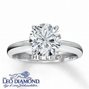 kayoutlet the leo diamond 2 ct tw solitaire 14k white With leo wedding ring