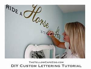the yellow cape cod diy custom wall lettering tutorial With custom wall lettering