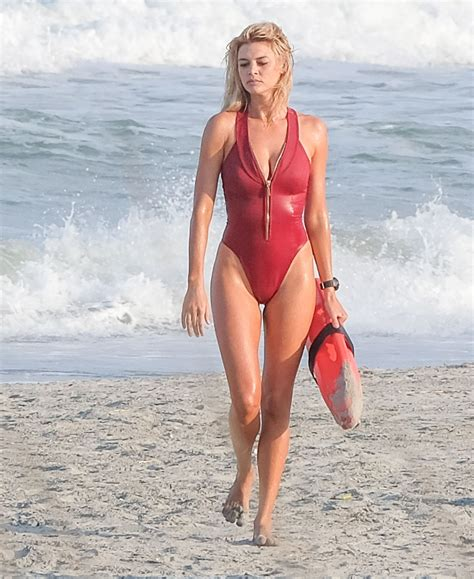 Kelly Rohrbach In Swimsuit On The Set Of 'baywatch' In