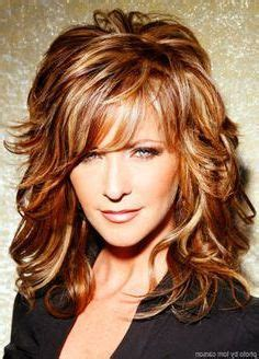 Medium Length Layered Hairstyles Thick Curly Hair Over 40