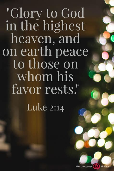 """In fact, you might even call him a. """"Glory to God in the highest, And on earth peace among men with whom He is pleased."""" Luke 2:14 ..."""